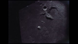 Module Descending to Lunar Surface
