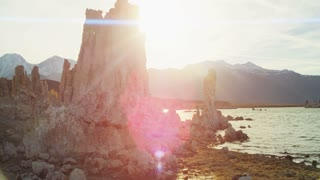 Mono Lake Rocky Terrain Sunset