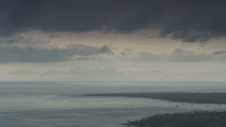 Monochrome Ocean Scene