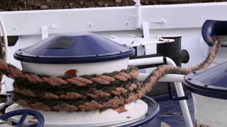 Mooring Rope on boat