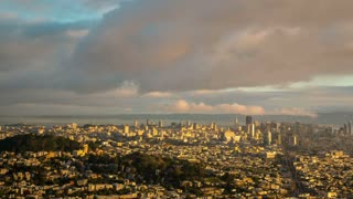 Morning Clouds Over San Francsico Time Lapse