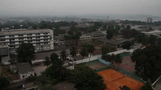 Morning In Kinshasa Wide Shot Of City