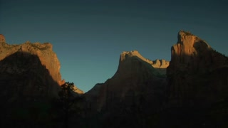 Morning Time-lapse Over High Desert Cliffs