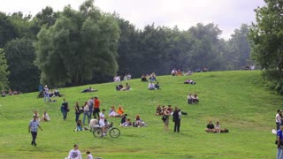 MOSCOW - JUNE 21: People have a rest at the Colomenskoe park on June 21, 2013 in Moscow, Russia.