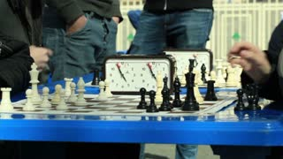 MOSCOW - May 6: Chess game outdoors at Moscow spring festival in Luzhniki on May 6, 2013 in Moscow, Russia.