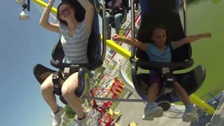 Mother and Daughter on Roller Coaster 2