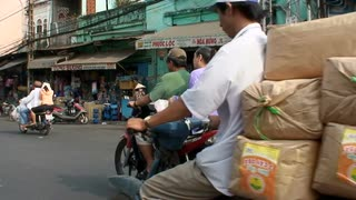 Motor Scooter Riding In Vietnam
