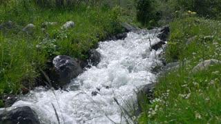 Mounain river rapids super slow motion video