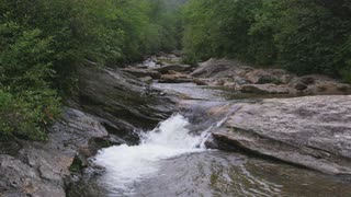 Mountain Stream With Miniature Rapid, Blue Ridge Mountains