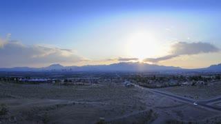 Mountain Sunset-panning