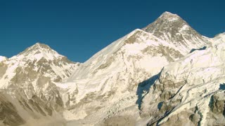 Mountain with Lhotse and Nuptse Peaks Nearby