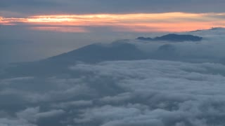Mountainous Cloud Sunset Timelapse