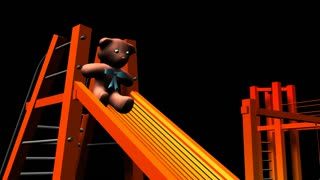 Movement slide teddy bear