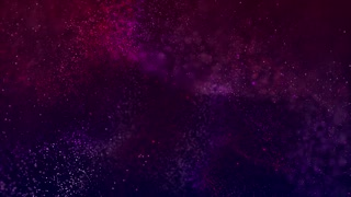 Moving particles on abstract background