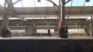 Moving Through Train Station Platform