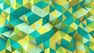 multicolor polygonal geometric surface seamless loop