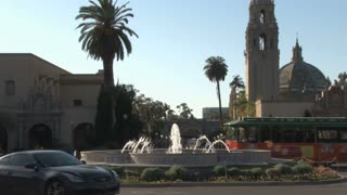 Museum of Man and fountain outside Balboa Park