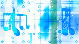 Music Blue And White