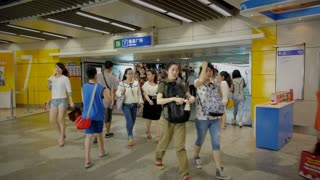 Nanjing Subway Bustle
