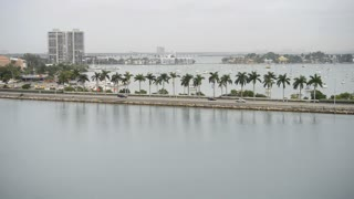 Narrow Miami Ocean Roadway
