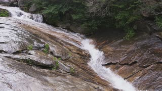 Narrow Stream Flowing Down Mountainside, Blue Ridge Mountains