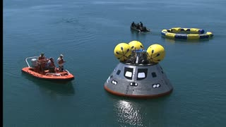 NASA Crew Recovers Orion Module