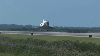 NASA Shuttle Return Landing