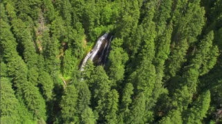 National Forest Waterfall Aerial