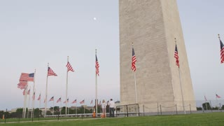 National Monument and Flags