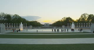 National World War II Memorial With Lincoln Memorial in Background