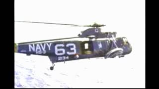 Navy Helicopter With Gemini 11
