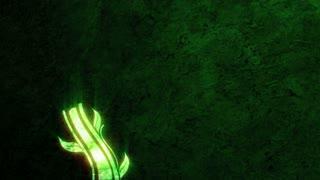 Neon Green Flourishes