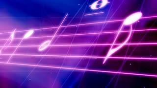Neon Music Staff