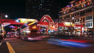 New Bridge Road, Chinatown, Chinese New Year Celebrations,  Singapore, Asia, Time lapse