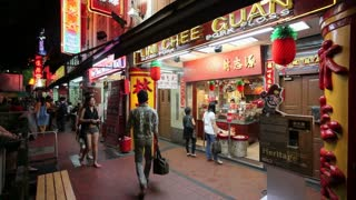 New Bridge Road, Chinatown, traditional Chinese shopfronts, Singapore, South East Asia