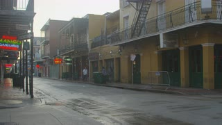 New Orleans Street During Light Storm