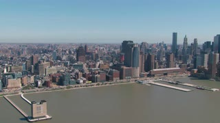 New York City Aerial Approaching Freedom Tower