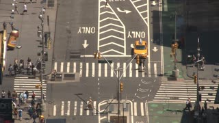 New York City Busy Intersection
