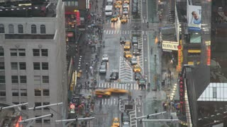 New York City Intersection in Rain Timelapse 2