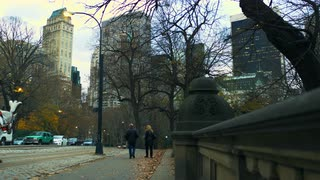 New York City Street Scene from Sidewalk 2