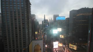 New York City Times Square Sunrise Timelapse