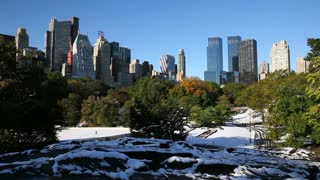 New York, New York City, Manhattan, Wollman Ice rink in Central Park, United States of America,