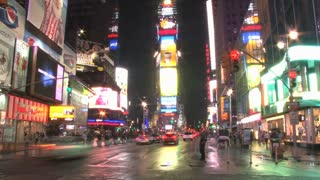New Yorks Times Square at Night Slow 2