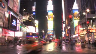 New Yorks Times Square at Night Slow