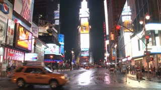 New Yorks Times Square at Night
