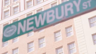 Newbury Street Sign in Boston