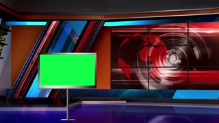 News TV Studio Set 04 - Virtual Green Screen Background Loop
