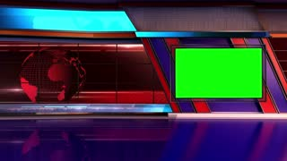 News TV Studio Set 05 - Virtual Green Screen Background Loop