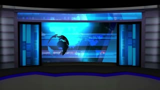 News TV Studio Set 06 - Virtual Green Screen Background Loop