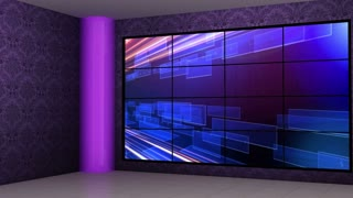 News TV Studio Set 07 - Virtual Green Screen Background